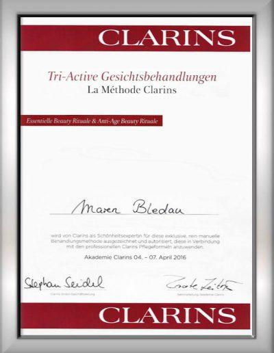 Zertifikat Clarins